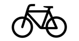 Zusatzschild Fahrrad