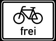 Zusatzschild Fahrrad frei